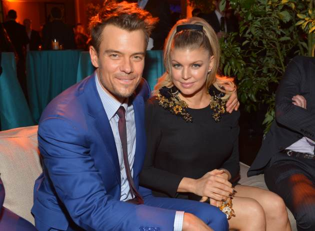 Josh Duhamel (L) and actress/singer Fergie attend the premiere of Relativity Media&#39;s &#39;Safe Haven&#39; after party at The Terrace At Hollywood & Highland on February 5, 2013 -- Getty Images