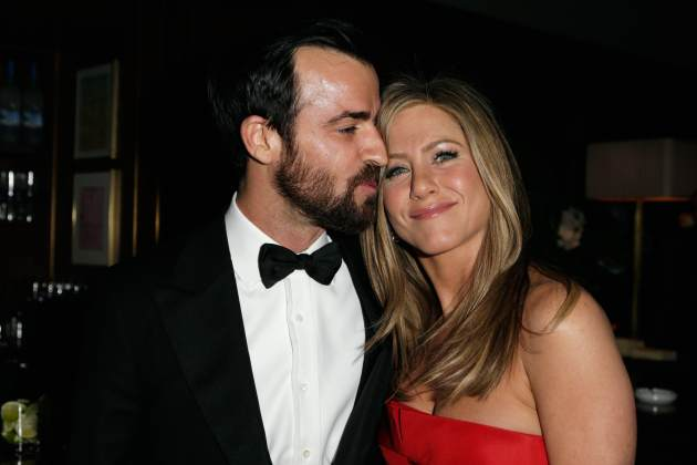 Justin Theroux and Jennifer Aniston attend the 2013 Vanity Fair Oscar Party hosted by Graydon Carter at Sunset Tower on February 24, 2013 in West Hollywood, Calif. -- Getty Premium