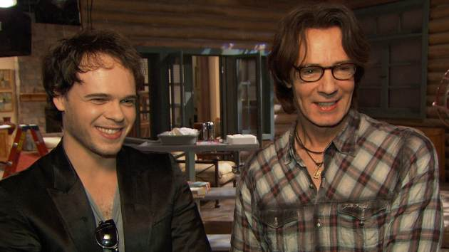 Liam Springthorpe and Rick Springfield on the set of 'General Hospital' -- Getty Images