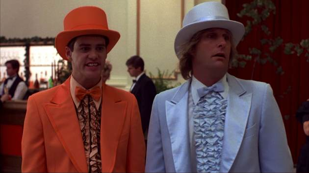Jim Carrey and Jeff Daniels in &#39;Dumb and Dumber&#39; -- New Line Cinema