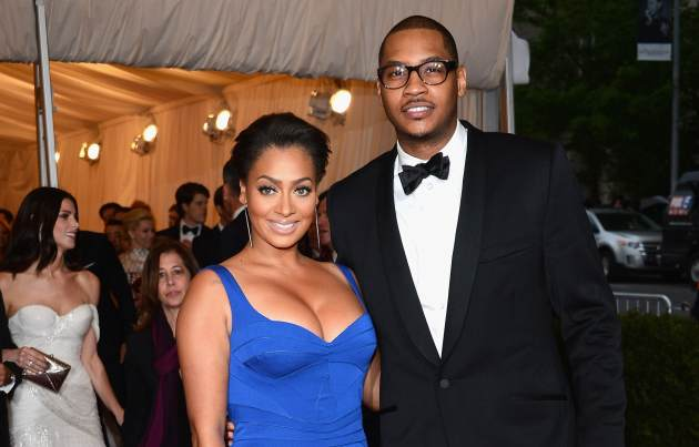 La La Anthony and Carmelo Anthony attend the &#39;Schiaparelli And Prada: Impossible Conversations&#39; Costume Institute Gala at the Metropolitan Museum of Art in New York City on May 7, 2012 -- Getty Images