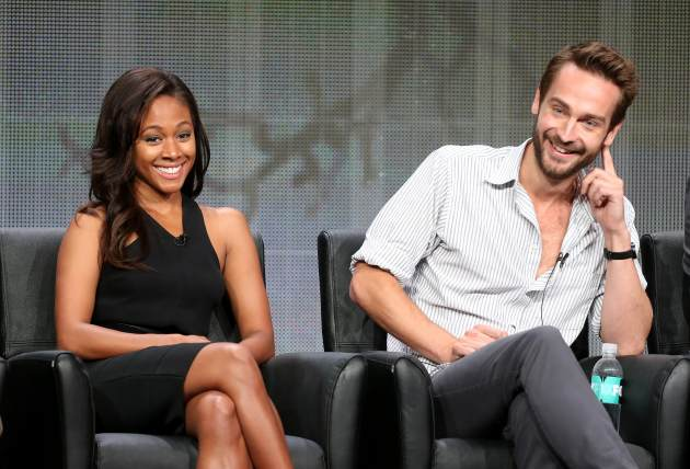 Nicole Beharie and Tom Mison