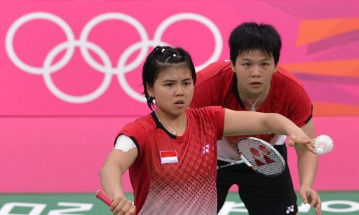 Greysia Polii (left) and Meiliana Jauhari were disqualified from the Olympics in early Augus