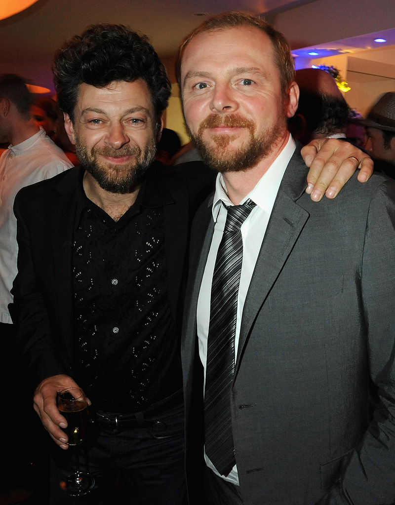 2010 Vanity Fair Party Honoring Martin Scorsese Cannes Film Festival Andy Serkis Simon Pegg