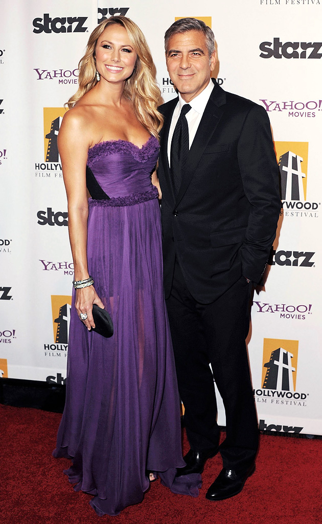 2011 Hollywood Film Awards Stacy Keibler George Clooney