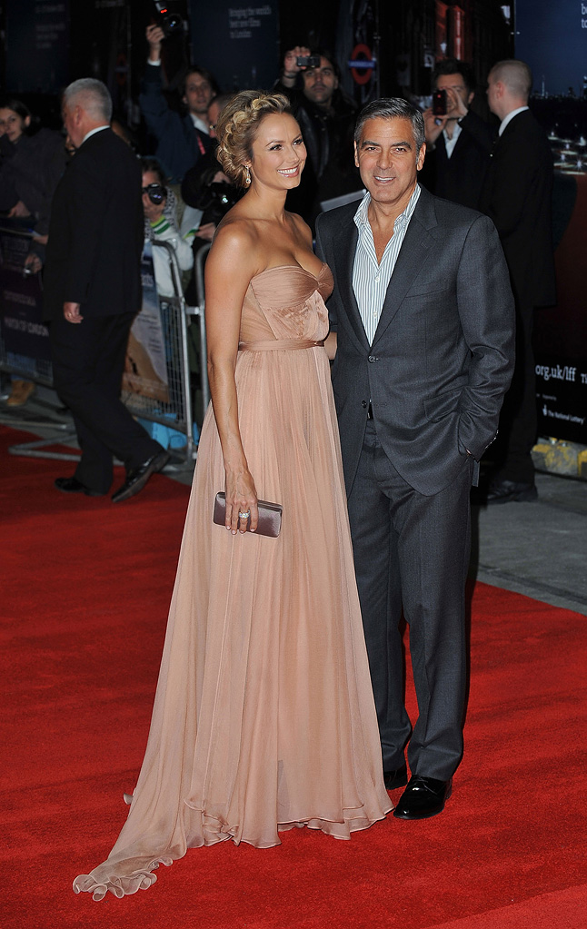 55th Annual BFI London Film Festival 2011 George Clooney Stacy Keibler
