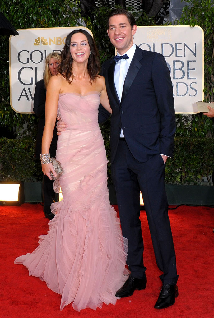 67th Annual Golden Globe Awards 2010 Emily Blunt John Krasinski