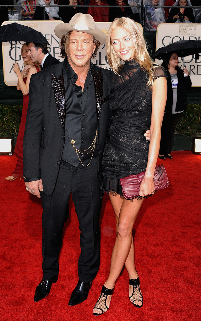67th Annual Golden Globe Awards 2010 Mickey Rourke