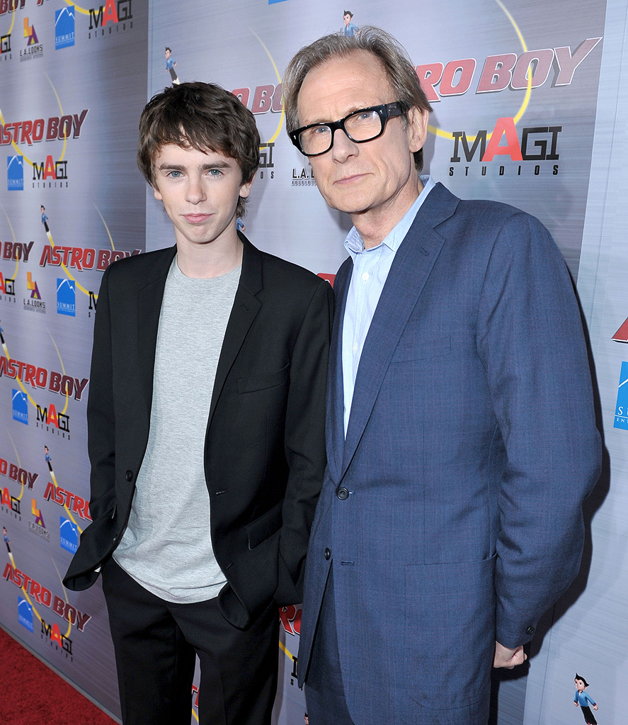 Astro Boy LA Premiere 2009 Freddie Highmore Bill Nighy