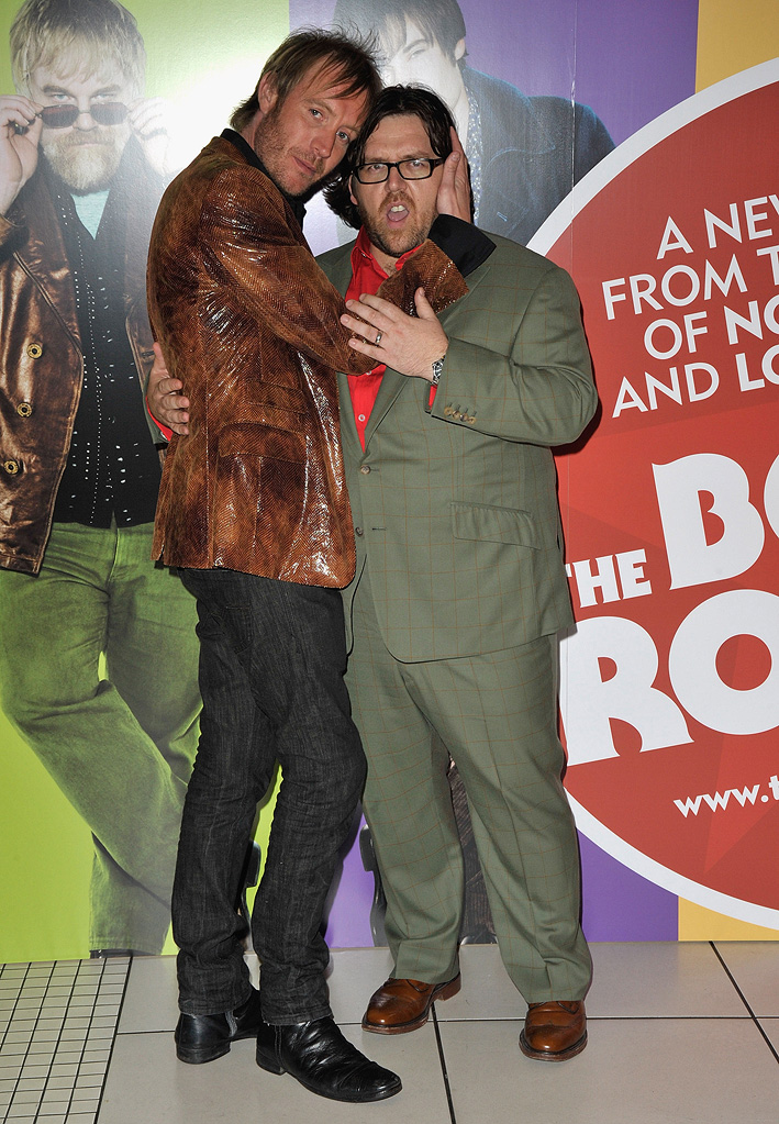 The Boat the Rocked UK Premiere 2009 Rhys Ifans Nick Frost