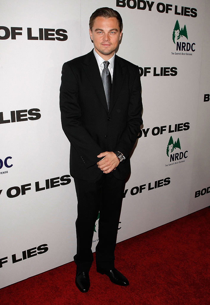 Body of Lies 2008 NY Premiere Leonardo DiCaprio