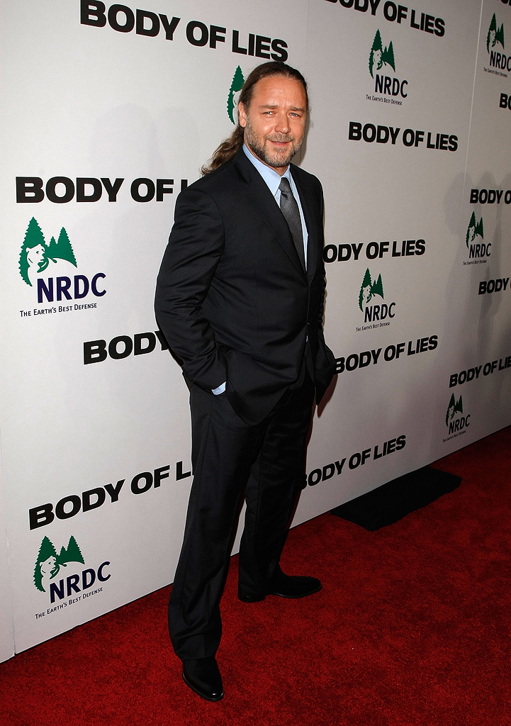 Body of Lies 2008 NY Premiere Russell Crowe