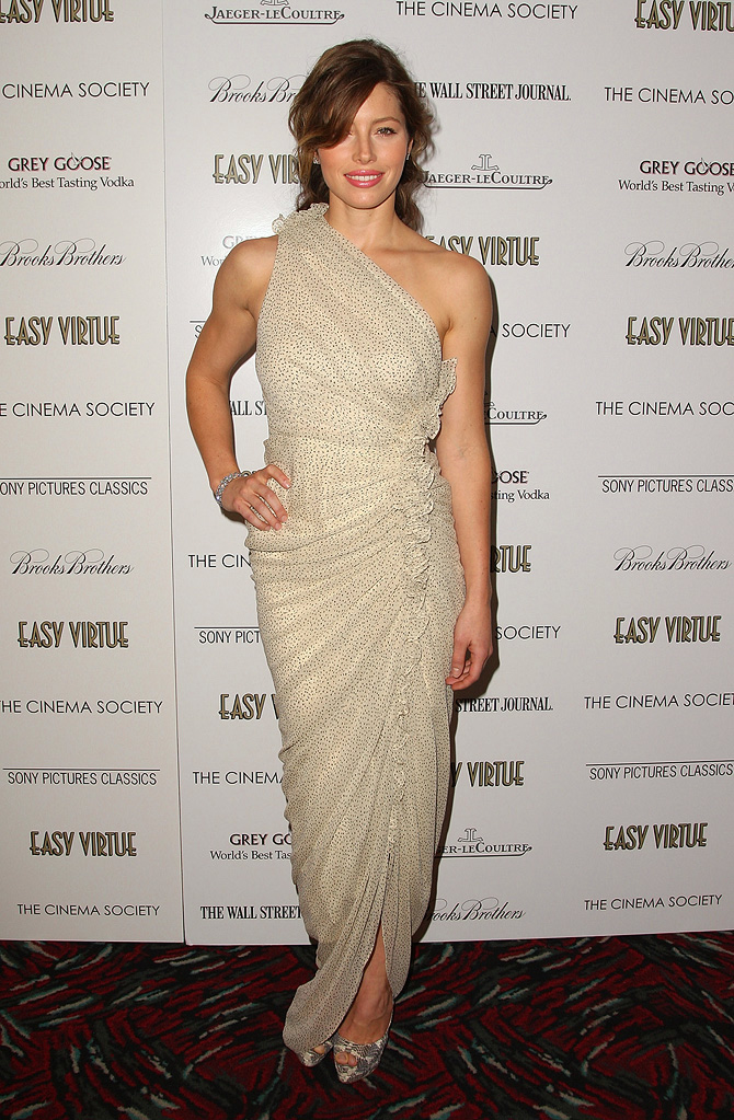 Easy Virtue NY Screening 2009 Jessica Biel