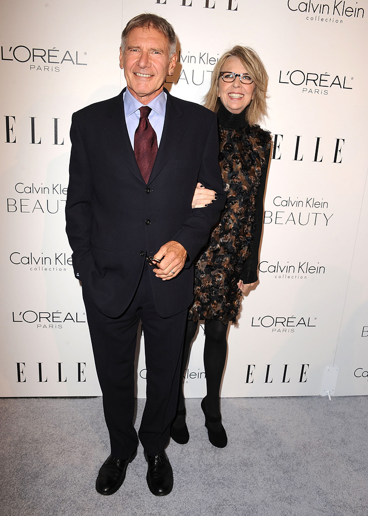 Elle's 17th annual Women in Hollywood Tribute 2010 Harrison Ford Diane Keaton