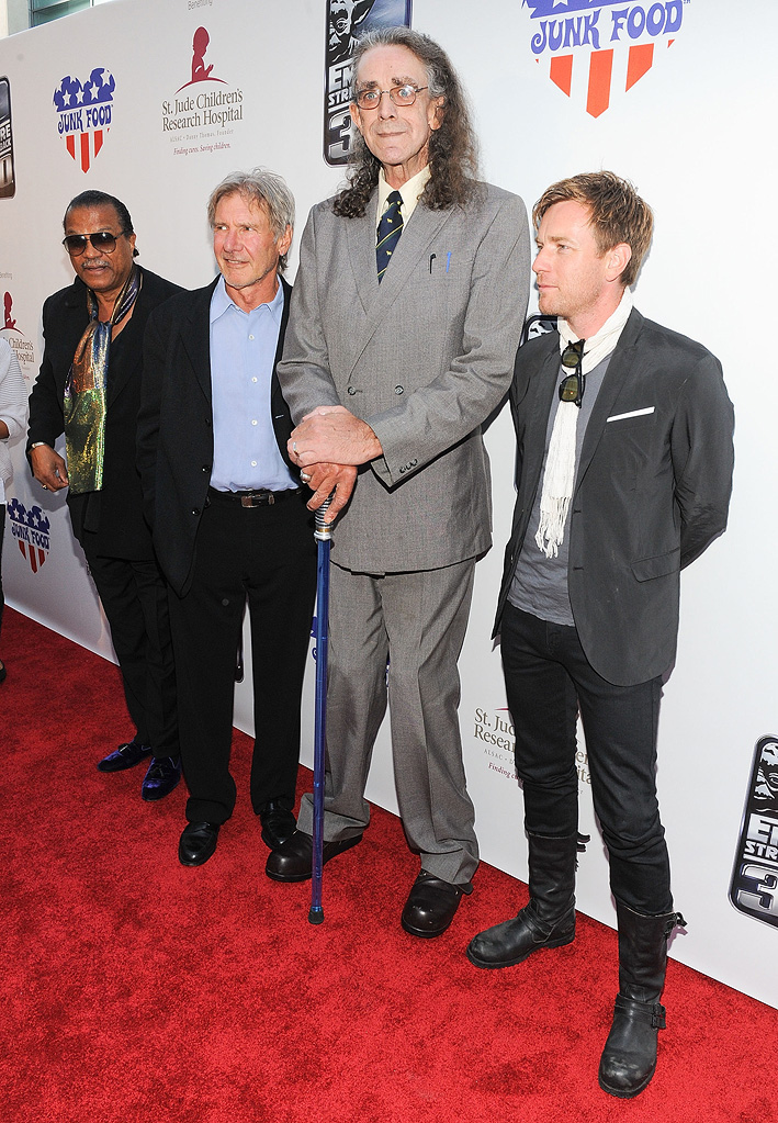 The Empire Strikes Back 30th Anniversary Charity Screening Event 2010 Billy Dee Williams Harrison Ford Peter Mayhew Ewan McGregor