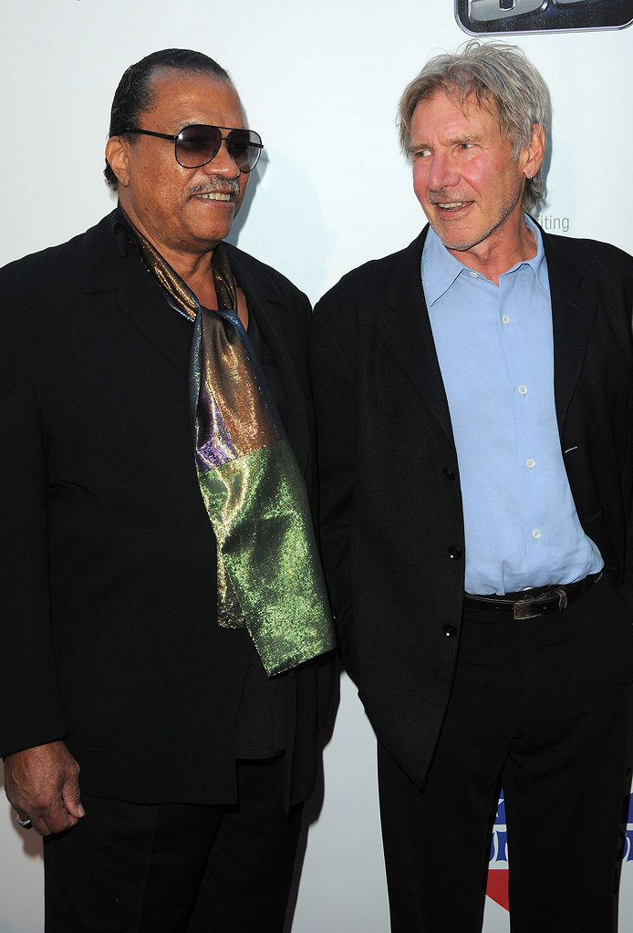 The Empire Strikes Back 30th Anniversary Charity Screening Event 2010 Billy Dee Williams Harrison Ford