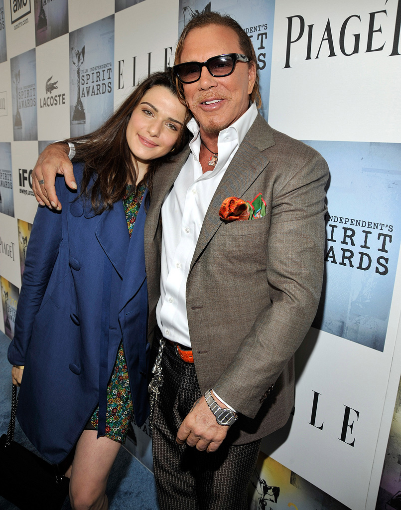 Film Independent's 2009 Independent Spirit Awards Mickey Rourke Rachel Weisz