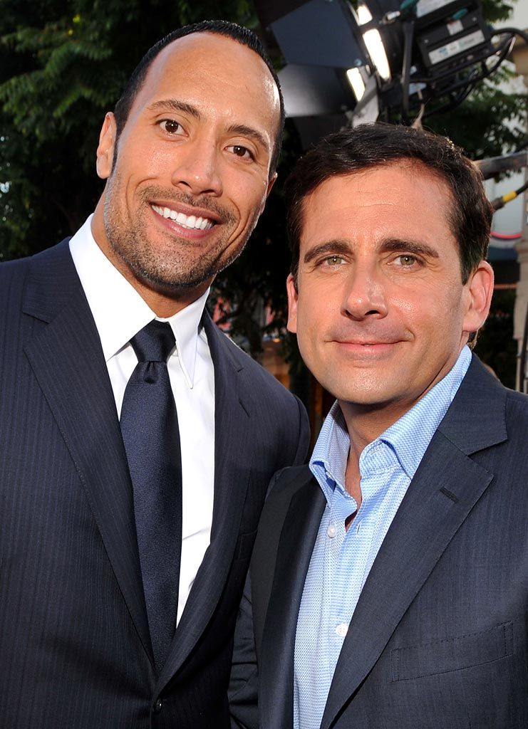 "Get Smart Premiere 2008 Dwayne ""The Rock"" Johnson Steve Carell"