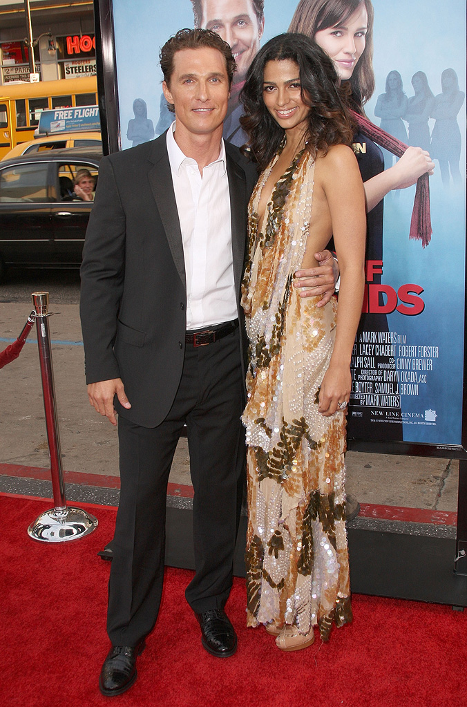Ghosts of Girlfriends Past LA Premiere 2009 Matthew McConaughey Camila Alves