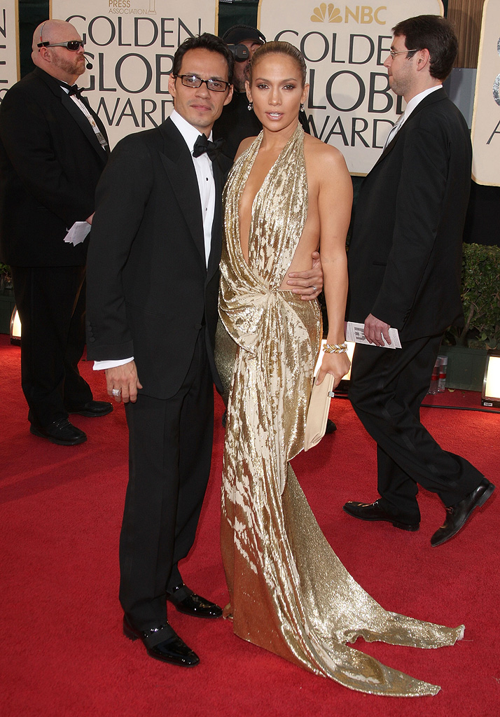 Golden Globes 2009 Marc Anthony Jennifer Lopez