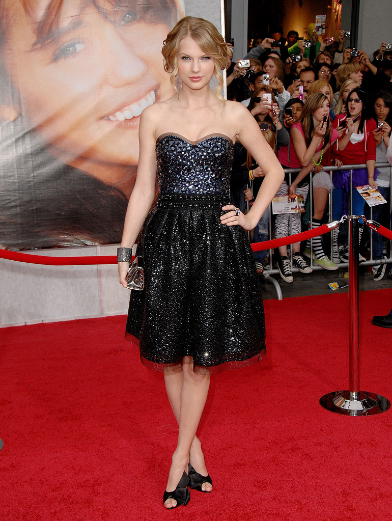 The Hannah Montana Movie LA premiere 2009 Taylor Swift