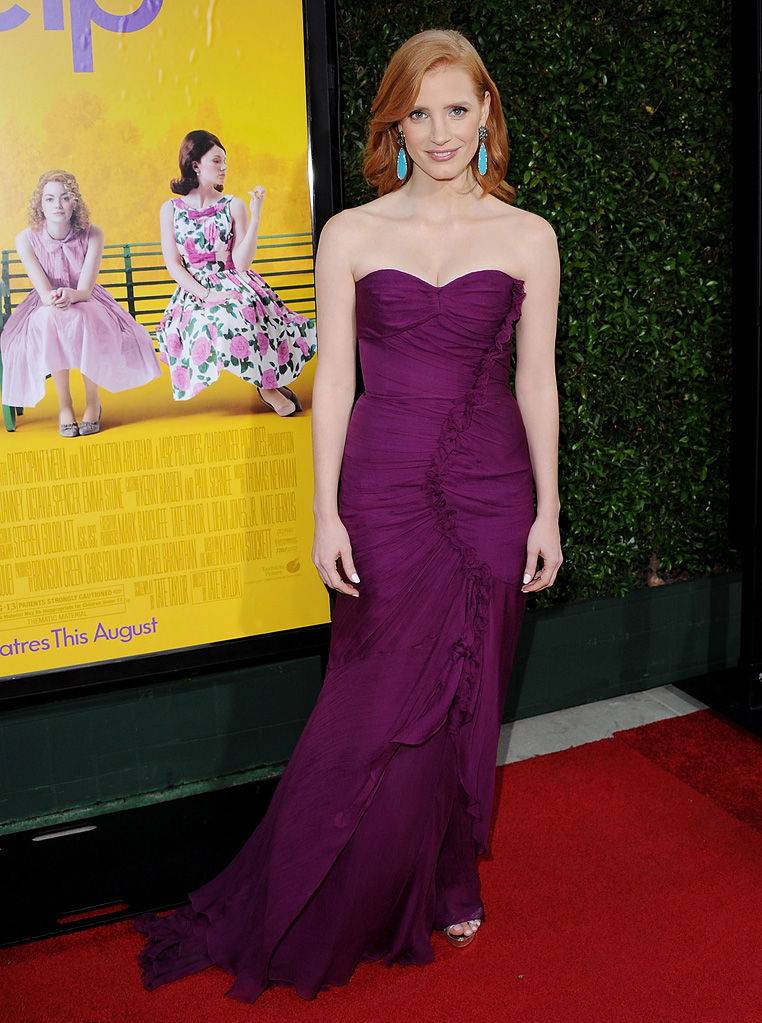 The Help LA Premiere 2011 Jessica Chastain