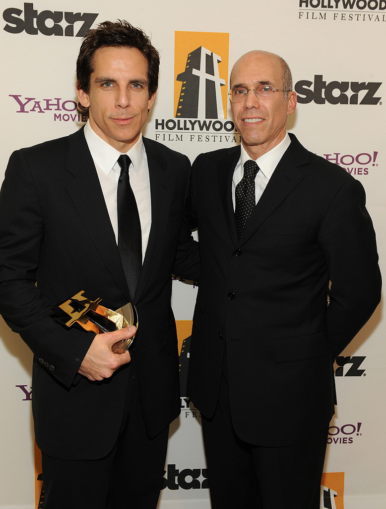 Hollywood Film Festival Awards Gala 2008 Ben Stiller Jeffrey Katzenberg