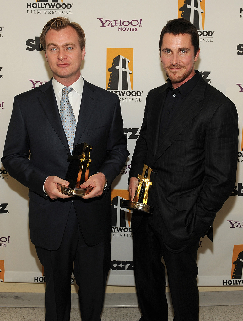 Hollywood Film Festival Awards Gala 2008 Christopher Nolan Christian Bale