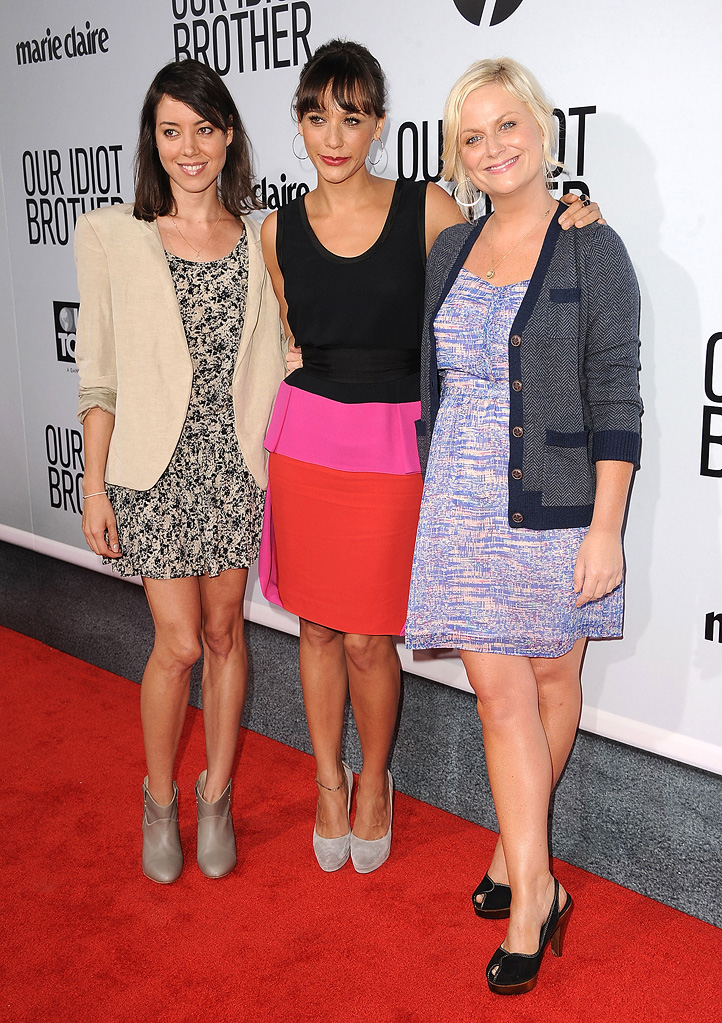 Our Idiot brother LA premiere 2011 Aubrey Plaza Rashida Jones Amy Poehler