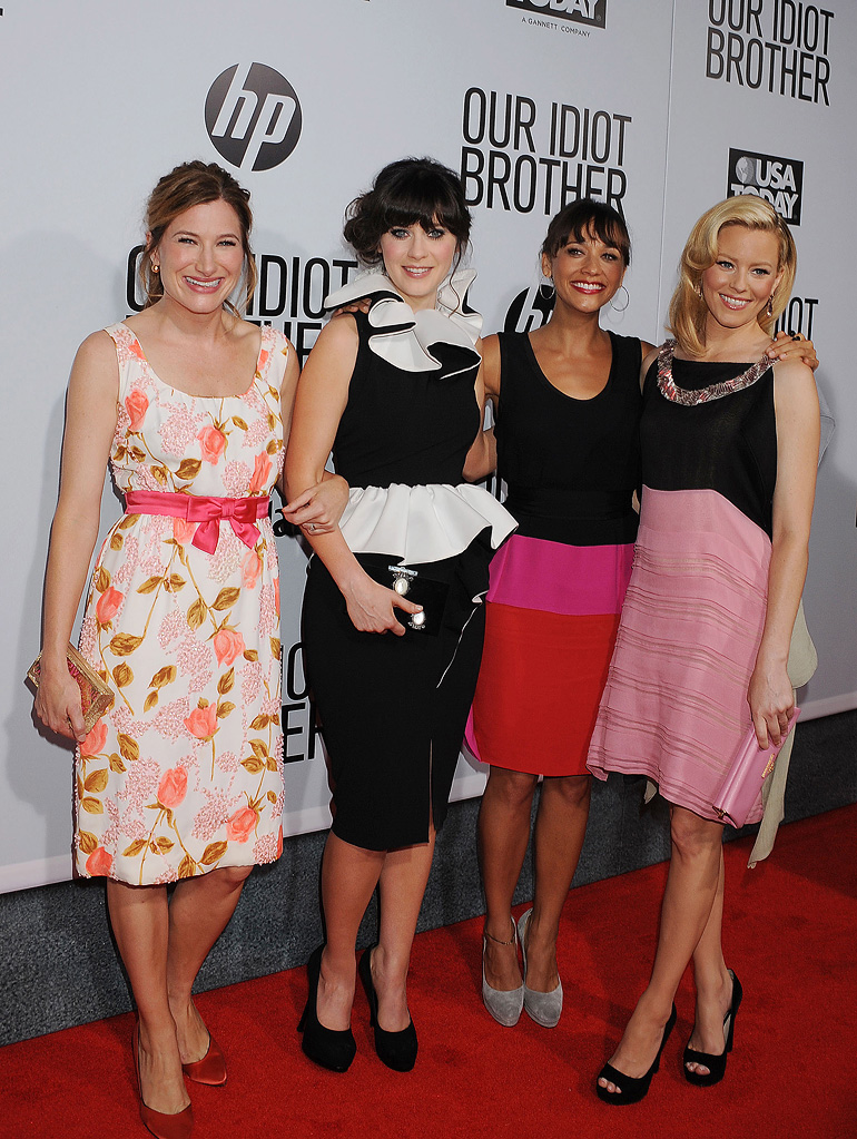 Our Idiot brother LA premiere 2011 Kathryn Hahn Zooey Deschanel Elizabeth Banks Rashida Jones
