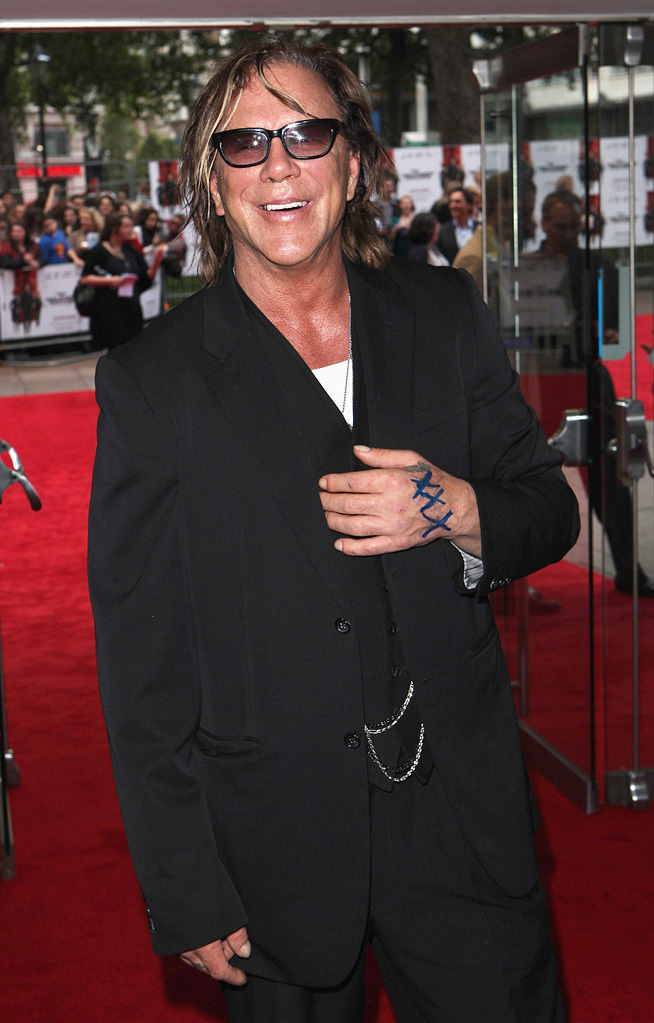 Inglourious Basterds UK Premiere 2009 Mickey Rourke