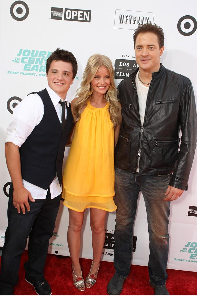 Journey to the Center of the Earth Premiere 2008 Anita Briem Josh Hutcherson Brendan Fraser