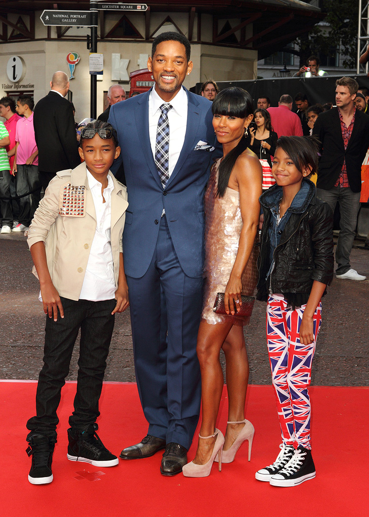 The Karate Kid UK Premiere 2010 Jada Pinkett Smith Jaden Smith Willow Smith Will Smith