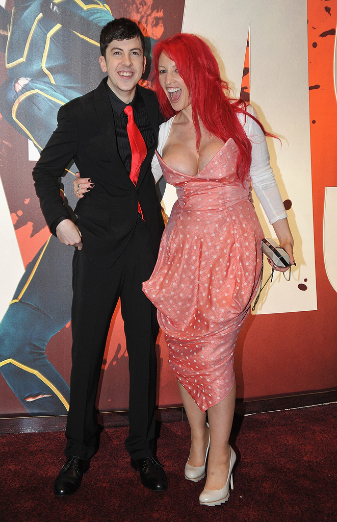 Kick Ass UK Premiere 2010 Christopher Mintz-Plasse Jane Goldman