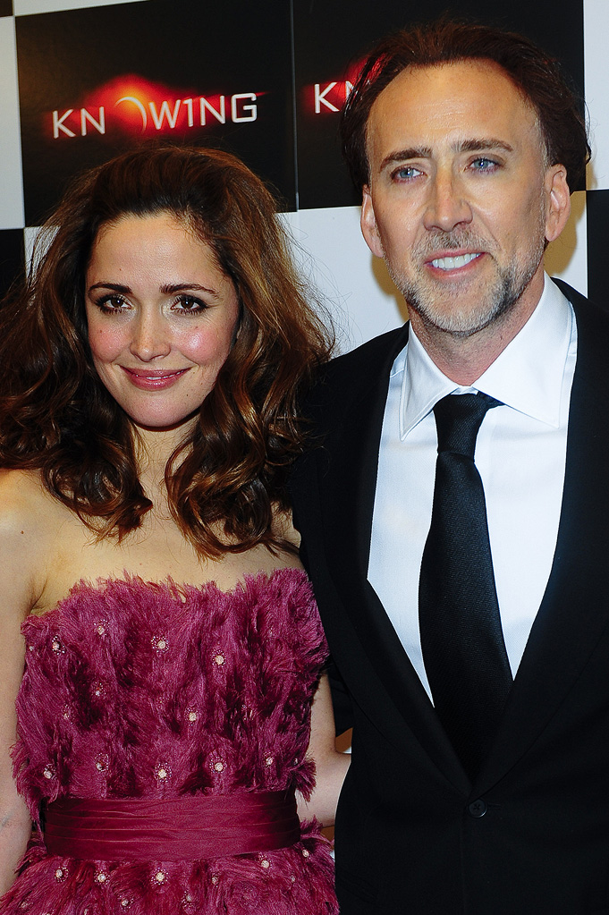 Knowing NY Premiere 2009 Rose Byrne Nicolas Cage