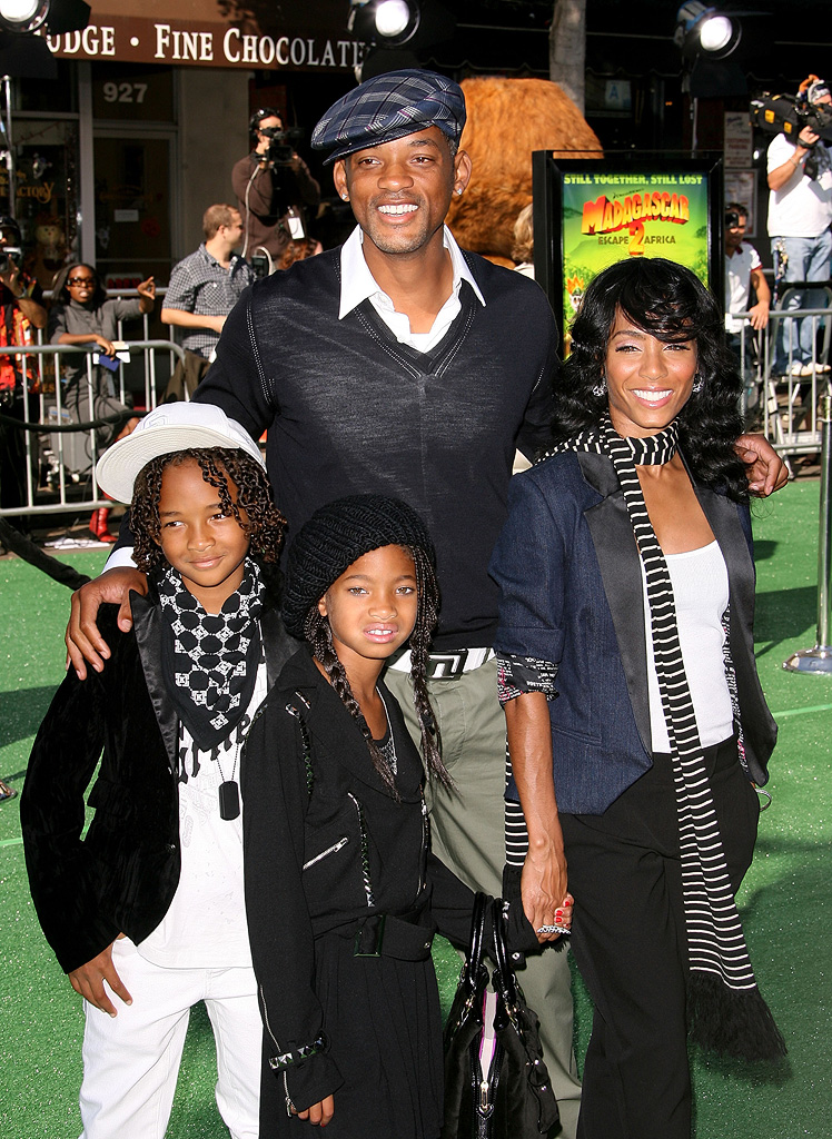 Madagascar 2 LA premiere 2008 Will Smith Jada Pinkett Smith Jaden Smith Willow Smith
