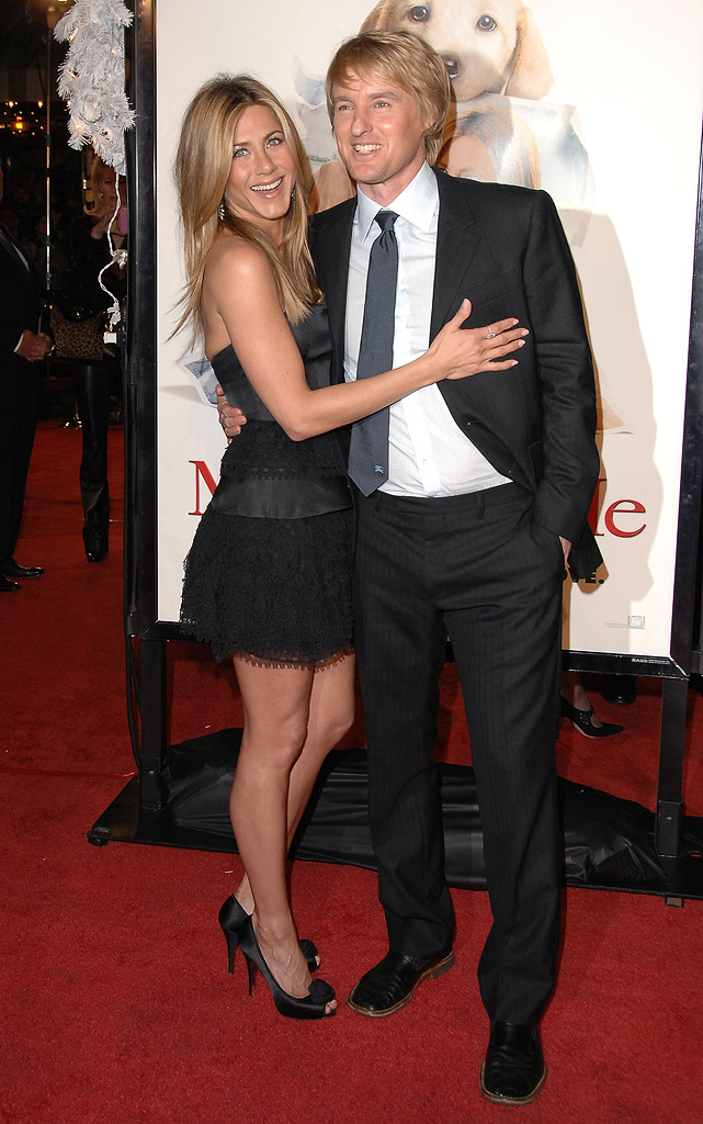 Marley and Me LA Premiere 2008 Jennifer Aniston Owen Wilson