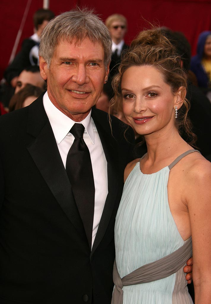 Oscars 2008 Calista Flockhart Harrison Ford