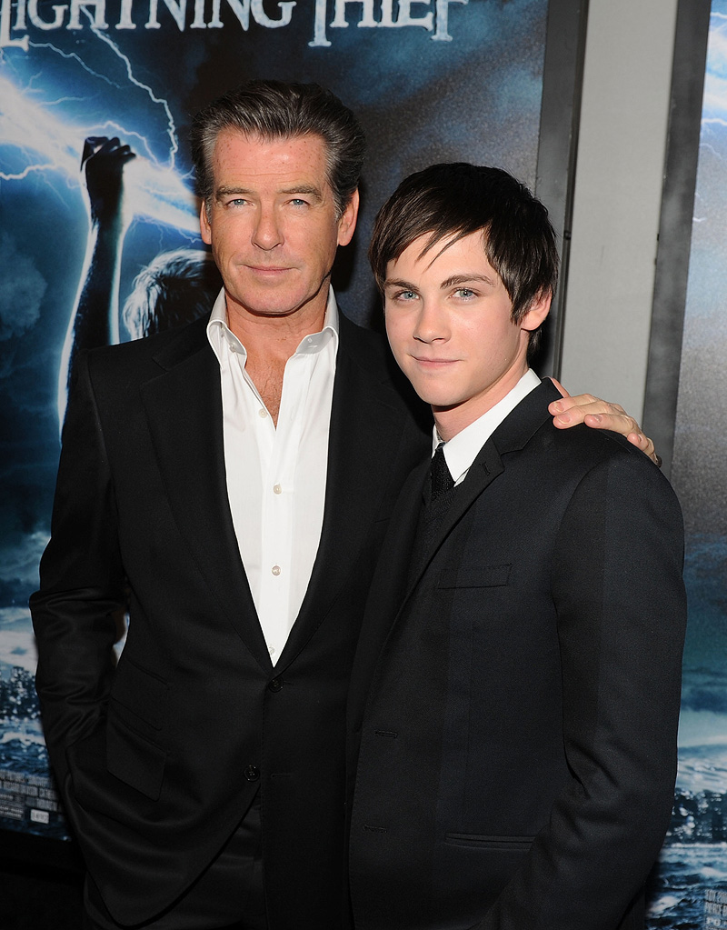 Percy Jackson and the Olympians NY premiere 2010 Pierce Brosnan Logan Lerman