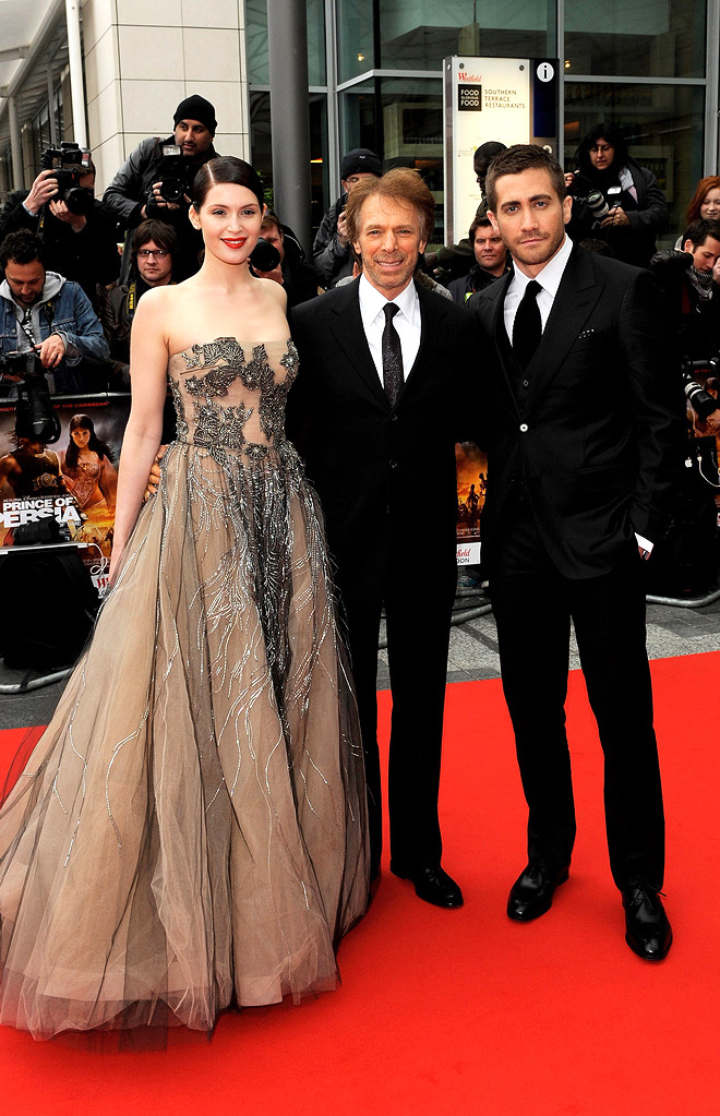 Prince of Persia The Sands of Time UK Premiere 2010 gemma Arterton Jerry Bruckheimer Jake Gyllenhaal