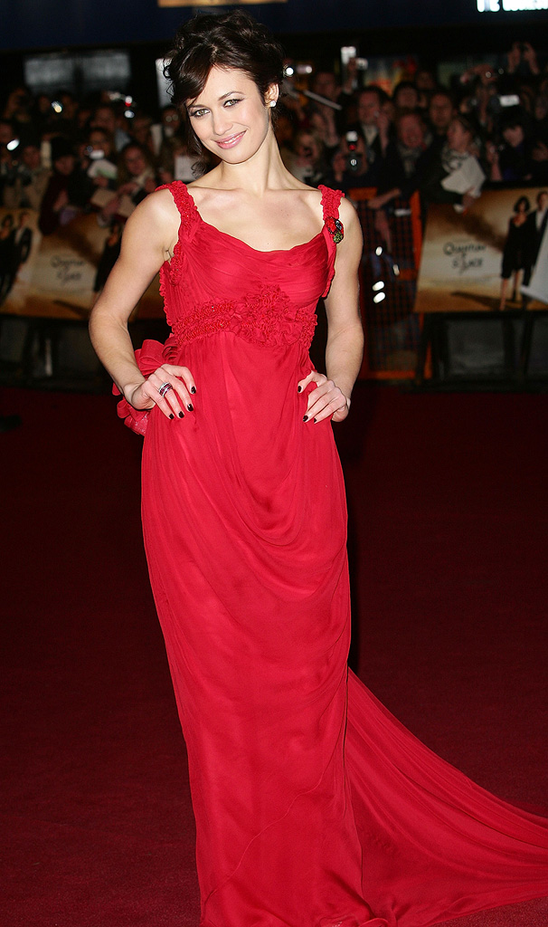 Quantum of Solace UK premiere 2008 Olga Kurylenko