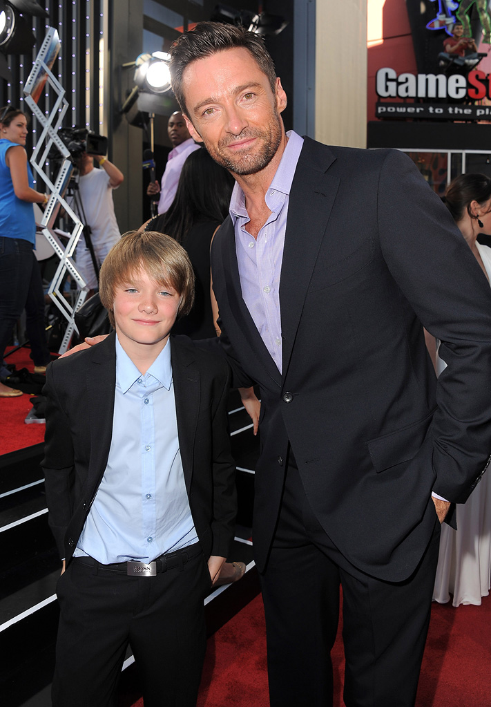 Real Steel 2011 LA Premiere Hugh Jackman Dakota Goyo