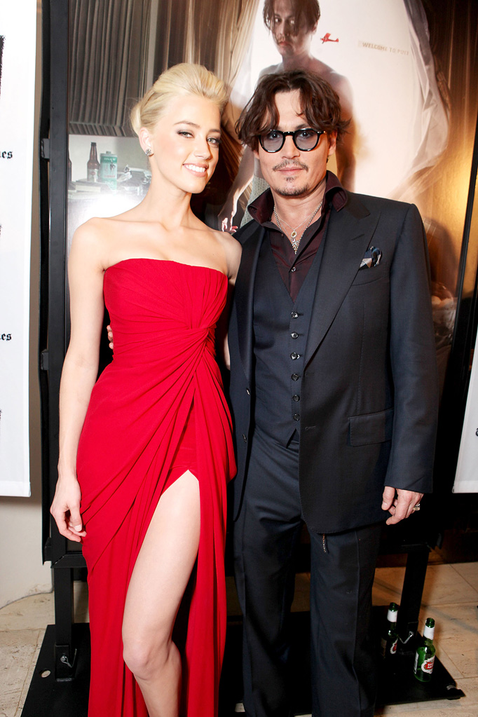 The Rum Diary 2011 LA Premiere Amber Heard Johnny Depp