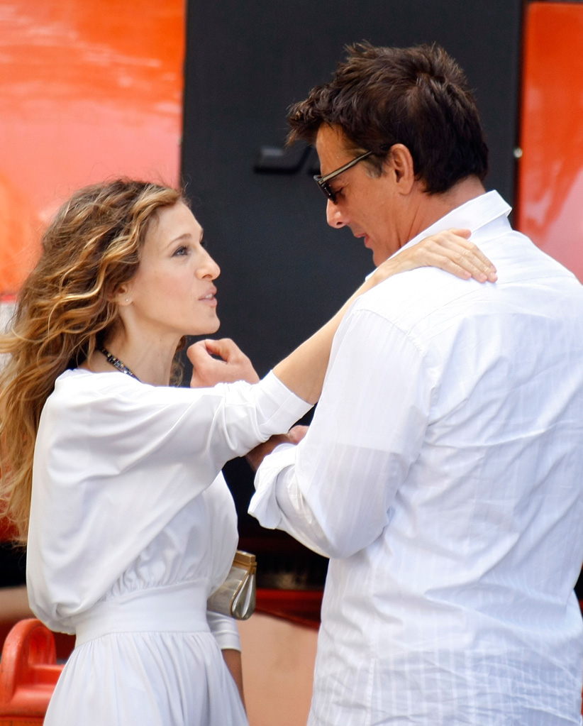 Spotted on Set Sarah Jessica Parker 2009 Chris Noth