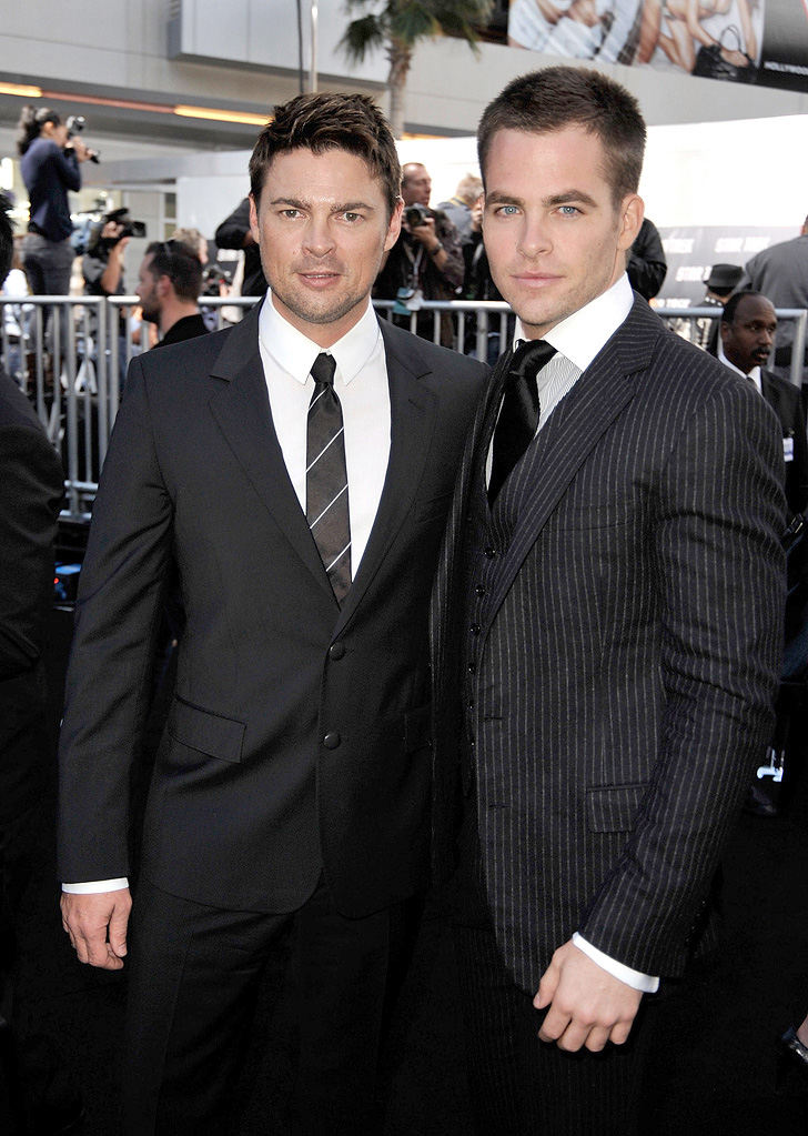 Star Trek LA Premiere 2009 Karl Urban Chris Pine