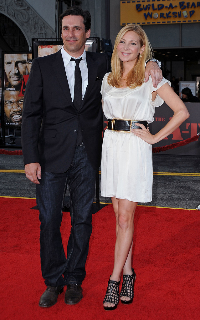 The A Team LA Premiere 2010 Jon Hamm Jennifer Westfeldt