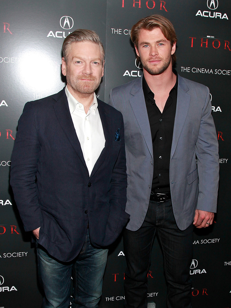 Thor NYC Screening 2011 Kenneth Branagh Chris Hemsworth