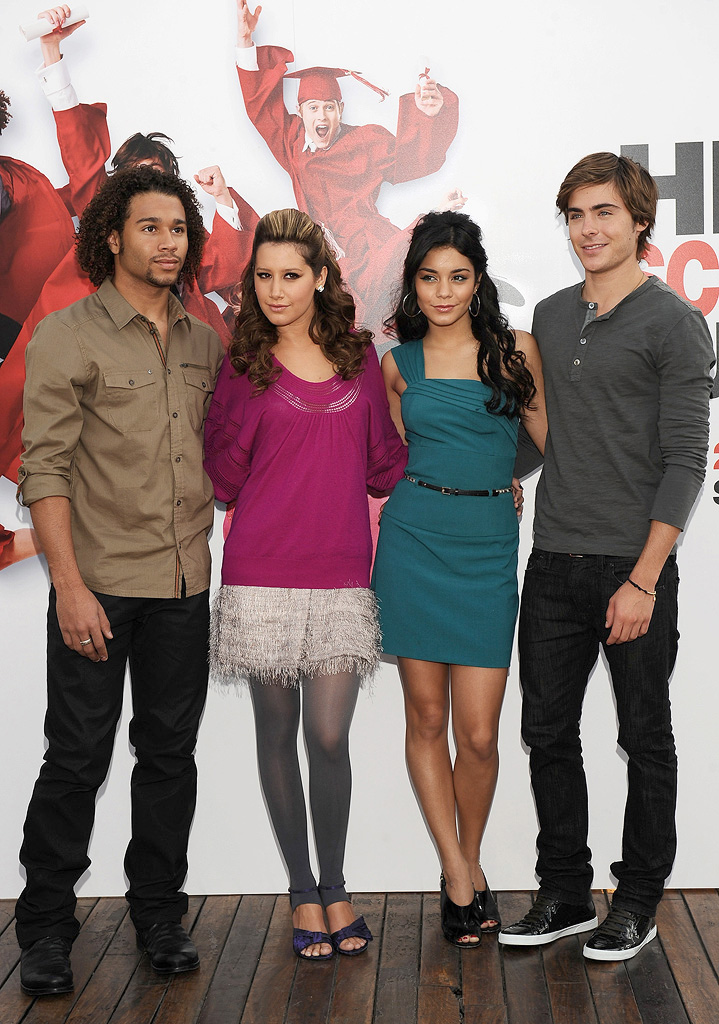 Vanessa Hudgens Corbin Bleu Ashley Tisdale Zac Efron 2008