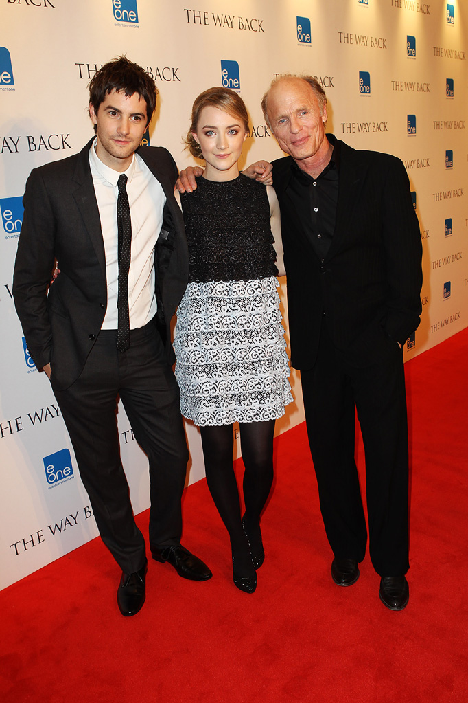 The Way Back UK Premiere 2010 Jim Sturgess Saoirse Ronan Ed Harris