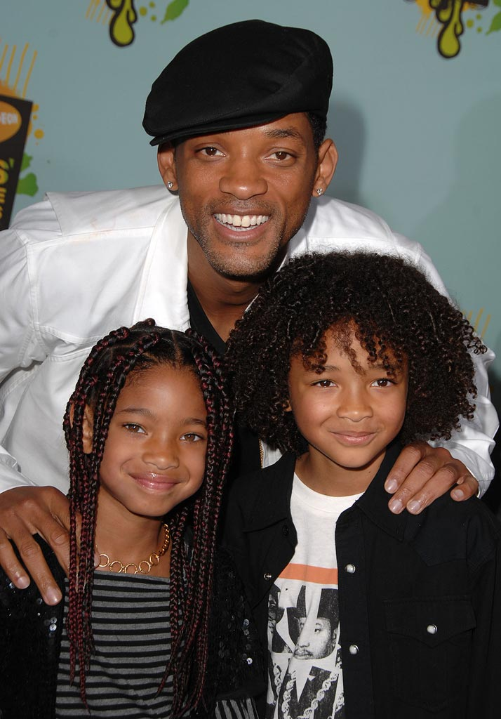 Will Smith Jaden Smith Willow Smith 2008